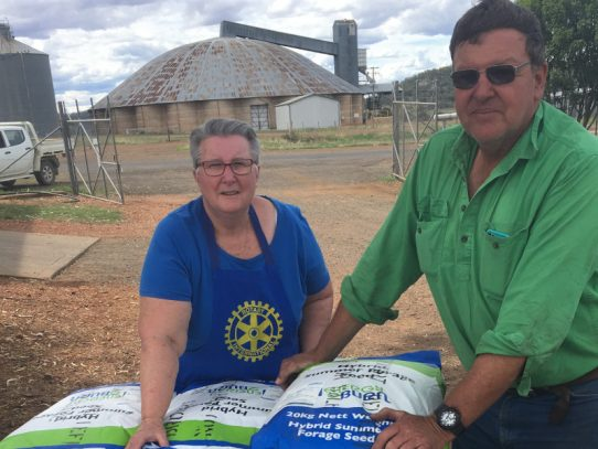 Pacific Seeds donates hundreds of bags of seed for farmers in drought